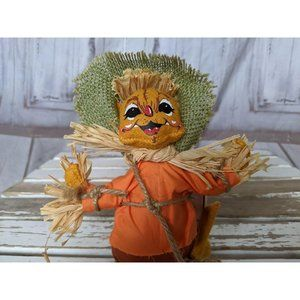 Annalee Holiday - Vintage Annalee 2007 Mouse Doll Scarecrow Fall Hal